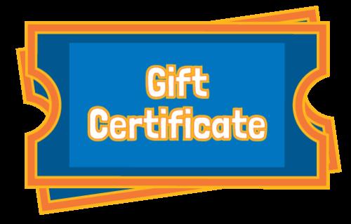 Gift Certificate | Adventure Landing Family Entertainment Center | St. Augustine, FL